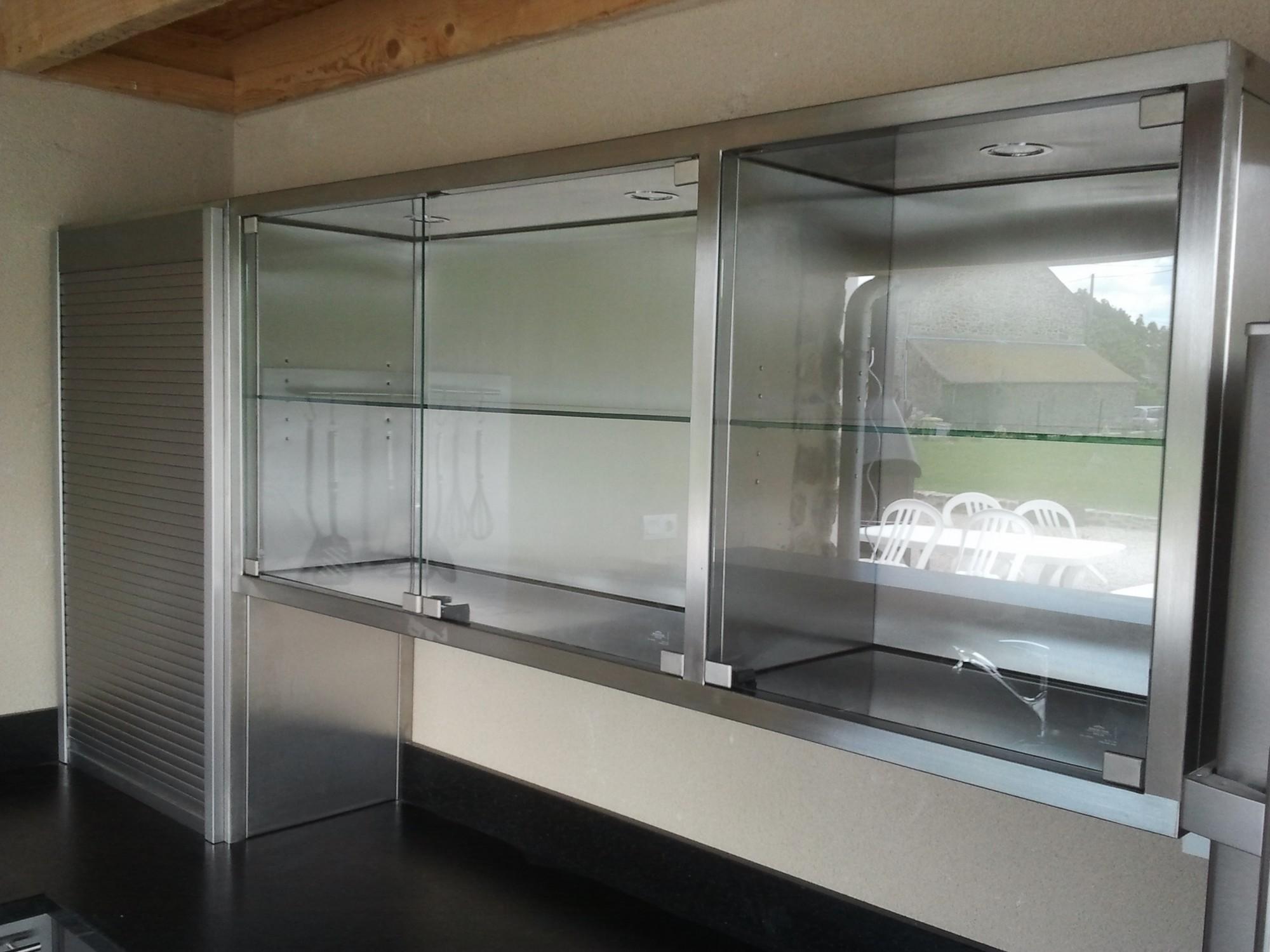 Meuble cuisine inox poigne bouton meuble poigne de porte for Meuble cuisine en metal